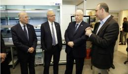 President Rivlin visits the BCDD. Photo: Yehonatan Zur