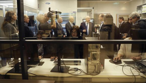 President Rivlin visits the BCDD. Photo: Yehonatan Zur